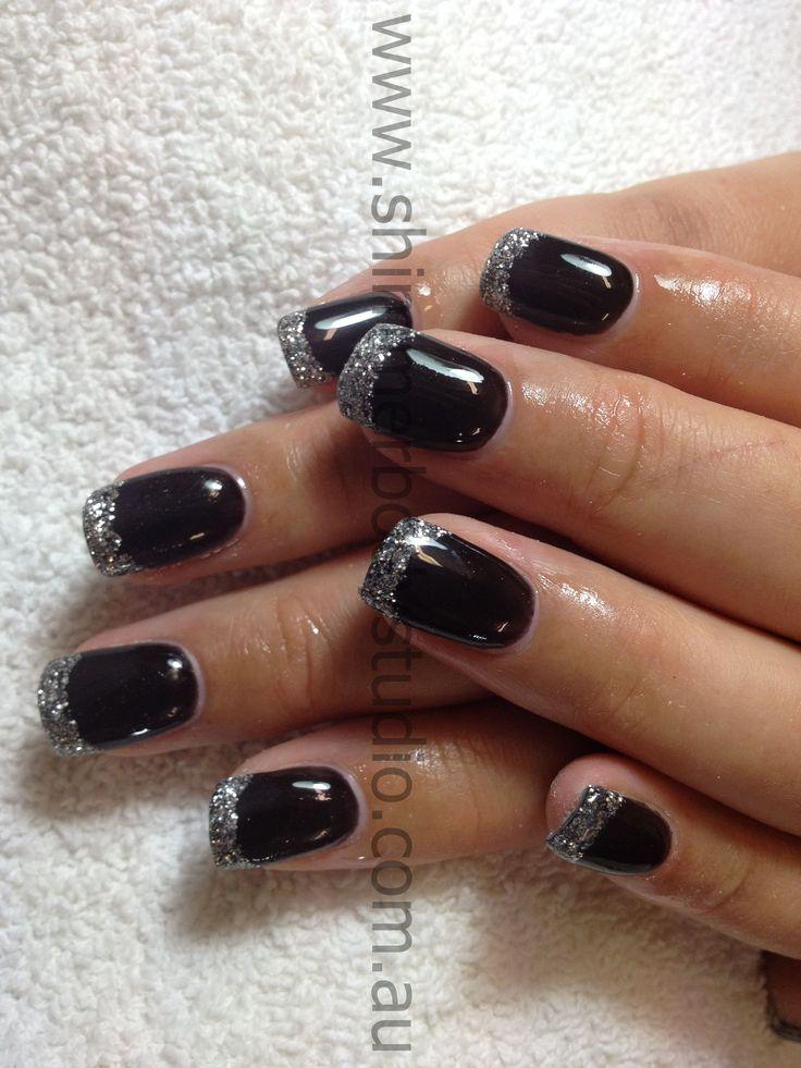 gel nails polish black