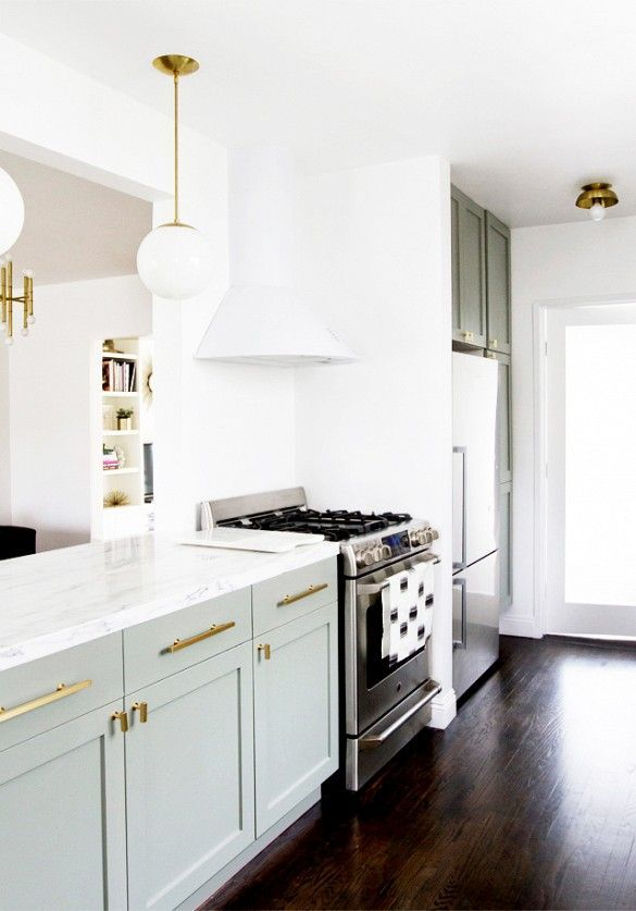 5 Kitchen Before-and-Afters You Have to See to Believe! Loving the gold accents