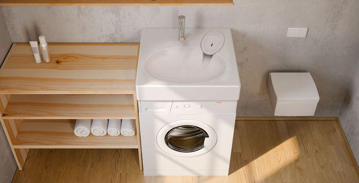 Les 35 meilleures images propos de solutions gain de - Lavabo gain de place pour machine a laver ...