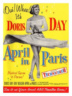 doris day  movie posters | AP223 - April in Paris, Doris Day, Movie Poster (30x40cm Art Print)