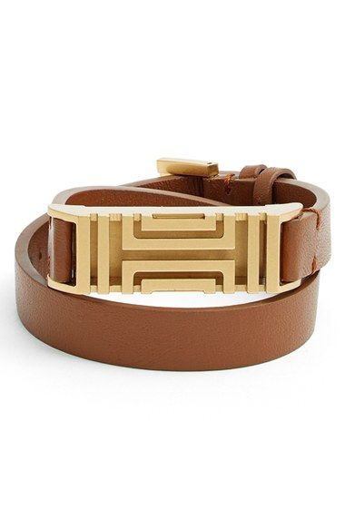 Seriously!!! I want this so much!!! Tory Burch for Fitbit® Leather Wrap Bracelet | Nordstrom