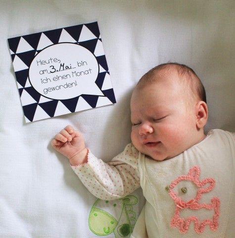 Happy Baby Fotokarten zum ausdrucken! Wie immer ganz umsonst auf www.kinnertied.de| KINNERTIED