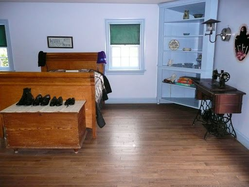 Bedroom inside an Amish House - no electricity.