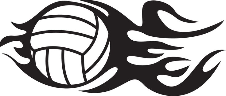 """Flaming Volleyball vinyl decal Sizes available: - Small: 6"""" Tall x 2.5"""" Wide - Medium: 8"""" Tall x 3.4"""" Wide - Large: 10"""" Tall x 4.2"""" Wide Colors* available: - Matte white, Matte black, Blue, Red, Yello"""