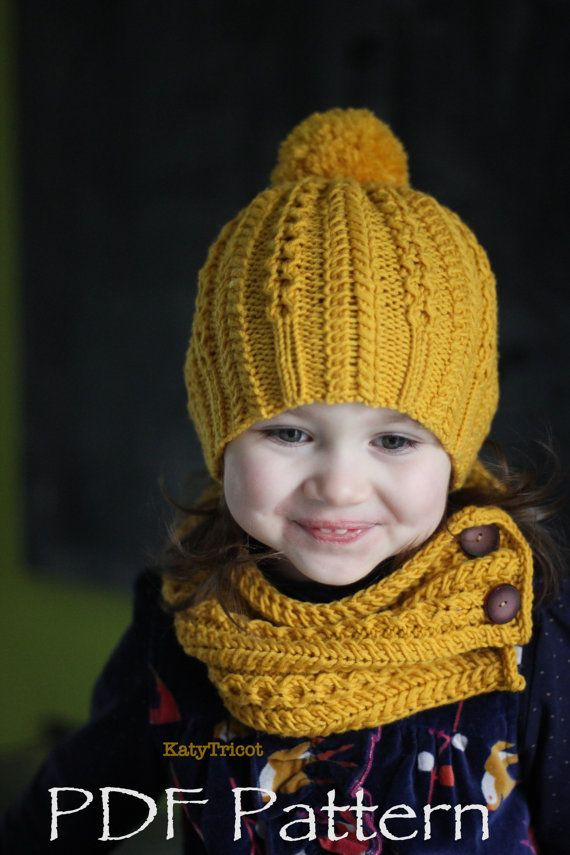 This listing is a KNITTING PATTERN ONLY, not the actual hat and scarf, so that you can make the item yourself with your own choice of yarn and color.