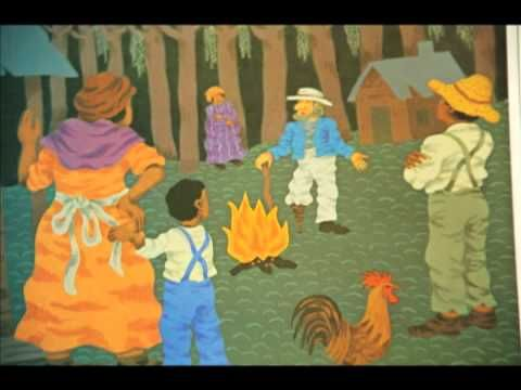 Follow the Drinking Gourd, youtube lesson and read-aloud with explanation of underground railroad and code words in Drinking Gourd song