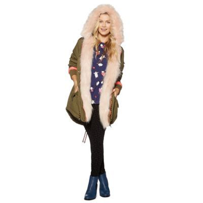 This H! by Henry Holland Pink faux-fur lined parka will definitely keep you nice and toasty, available at Debenhams.