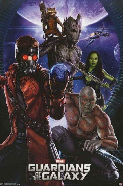 'Marvel Comics' movie poster of 'Guardians Of The Galaxy' (2014)