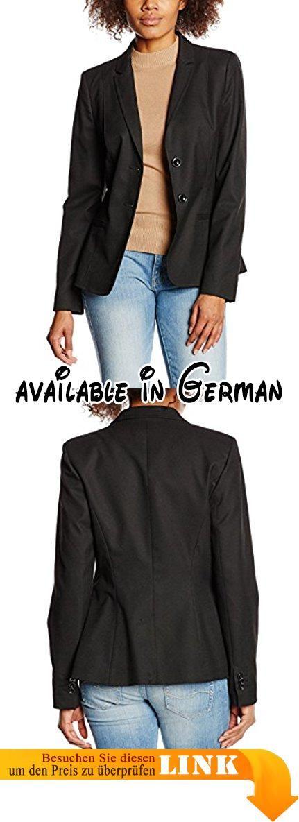 s.Oliver BLACK LABEL Damen Blazer 1 - Knopf, Gr. 46, Schwarz (grey/black melange 99W1, Schwarz). Gepflegter und etwas längerer Blazer in dezent strukturierter Optik. Schmale Form, die eine schöne Taille macht. Sehr edel mit der  passenden Hose, aber auch lässig zur Jeans ein echter Klassiker!. Die sehr hochwertige Materialzusammensetzung und Verarbeitung garantieren eine perfekte Passform und optimalen Tragekomfort. #Apparel #BLAZER