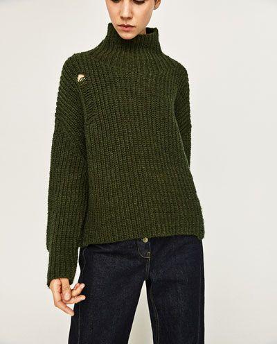 OVERSIZED KNITTED SWEATER-Sweaters-KNITWEAR-WOMAN | ZARA United Kingdom