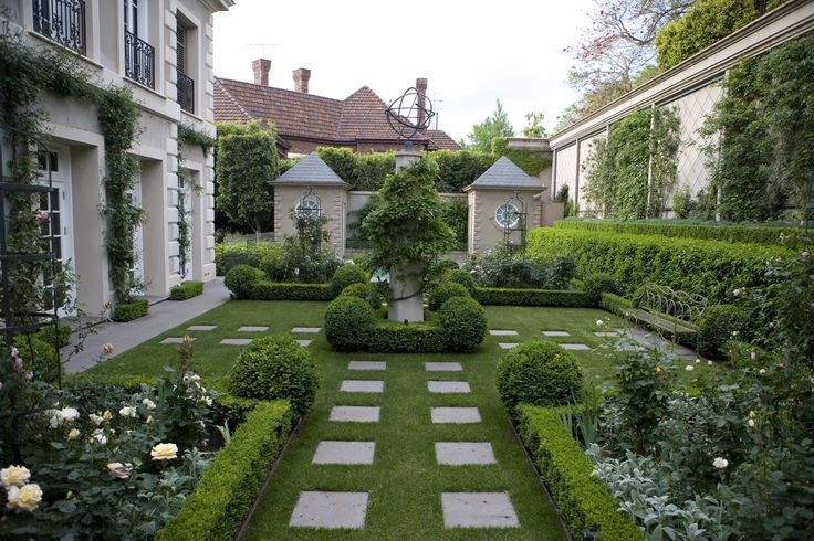 South Yarra, Melbourne, Australia - Paul Bangay is one of Australia's most high profile landscape designers.