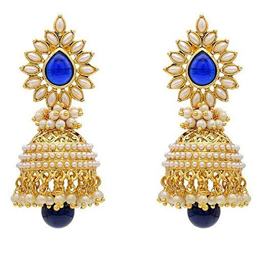 Most Beautiful Bule Stone Gold Plated White Pearls Indian... https://www.amazon.com/dp/B01L5AZALM/ref=cm_sw_r_pi_dp_x_hncLyb4AHRMDD