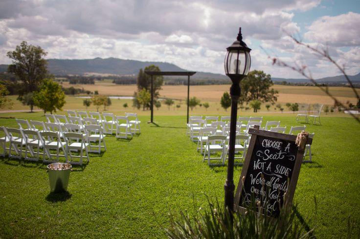 Ceremony location at Adams Peak Hunter Valley