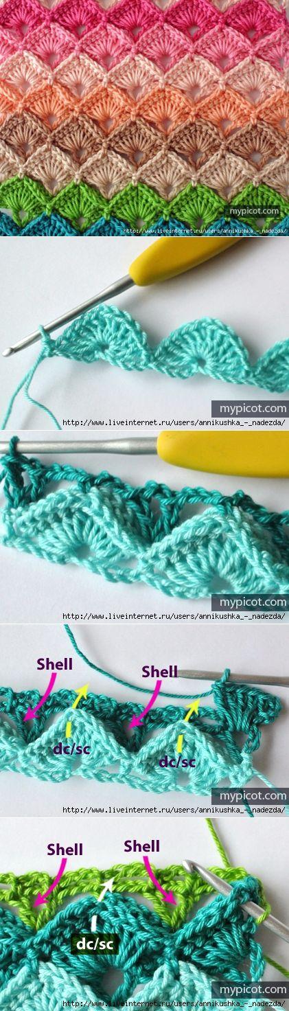 Посты по теме «Вязание крючком-узоры», добавленные  пользователем natalia igochewa на Постилу