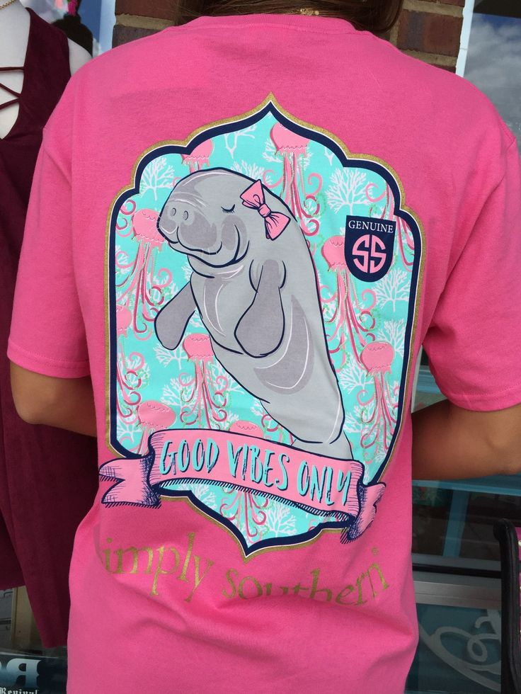 Simply Southern Good Vibes Only Tee - Pink from Chocolate Shoe Boutique
