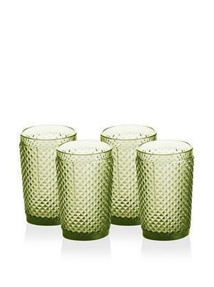 35% OFF Rosanna Set of 4 Pressed Glass 10-Oz. Highballs, Olive