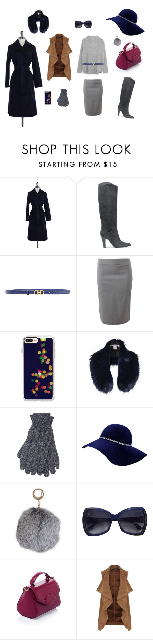 """Лук №4 (серый свитер)"" by madlily86 on Polyvore featuring мода, Vince, BCBGMAXAZRIA, Giuseppe Zanotti, Salvatore Ferragamo, Avenue Montaigne, Casetify, NLY Accessories, Heat Holders и Humble Chic"
