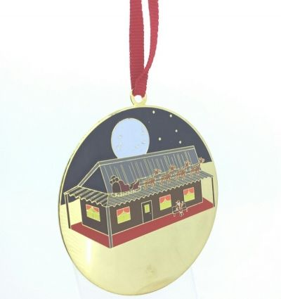Christmas Ornament - AUSSIE SANTA - Brass