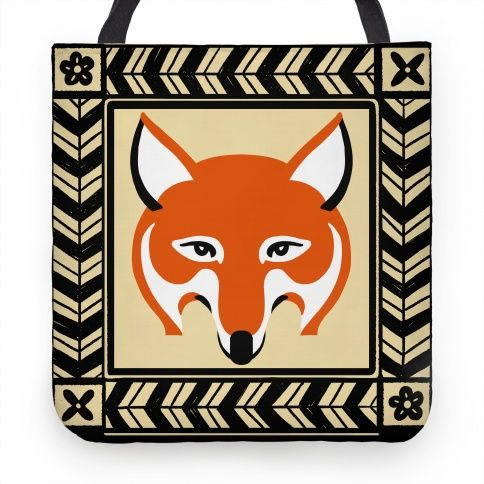 Curious Fox #tote #bag #fox #style #cute #design #illustration