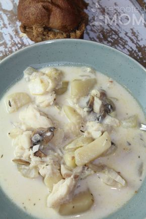 Fish Chowder with Cod My kids love fish chowder and this one looks simple.