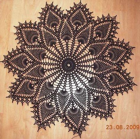 Free Pattern - crochet pineapple doily: