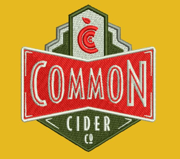 Branded embroidery for Common Cider Co.-  http://www.brandedscreenprinting.com/embroidery
