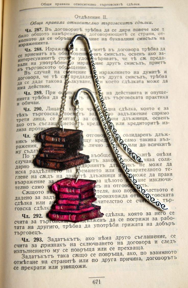 Miniature books bookmark Gift Idea For Book Lovers Unique Bookmark Great Gift for men Book mark for her book gift for Reader Gift for him (13.00 USD) by RareBirdDreams