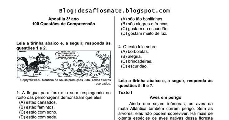 Apostila 3 ano - 100 questýýes de compreensýýo.pdf
