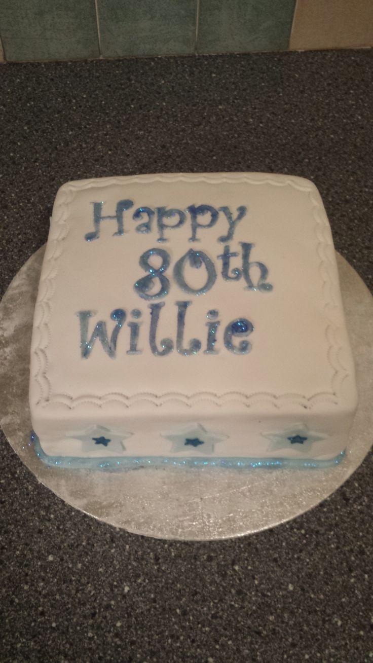 My uncles 80th birthday cake (banana cake with chocolate buttercream)