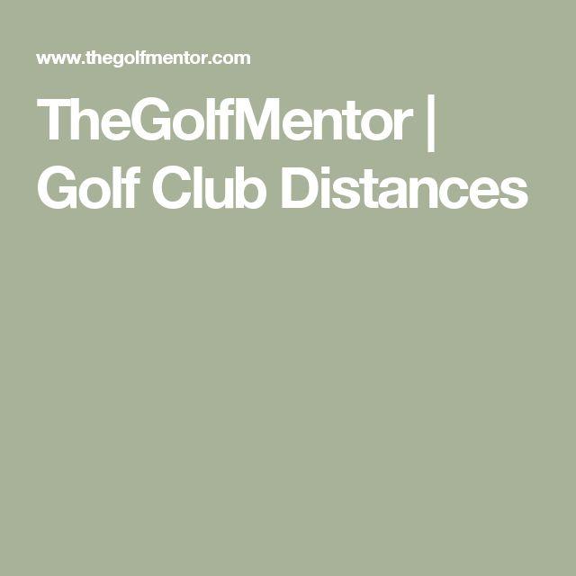 TheGolfMentor | Golf Club Distances