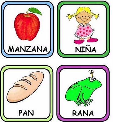 printable Spanish rhyme cards- links to the printable