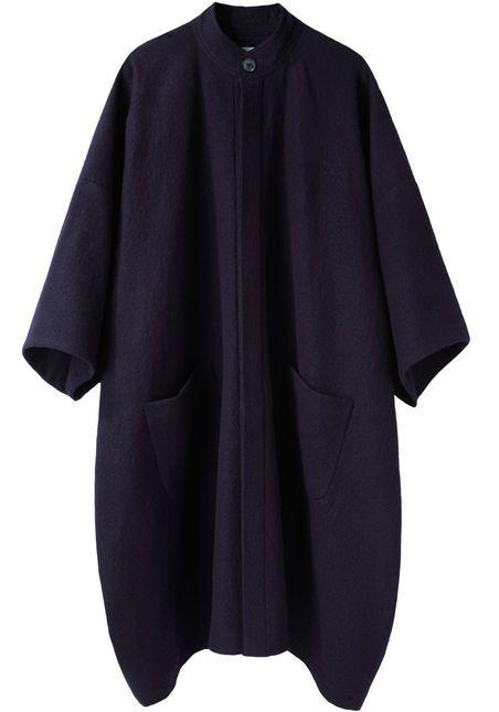 portrait wool crepe coat : la garçonne