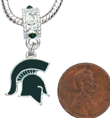 Michigan State University MSU Spartans Charm with Connector Will Fit Pandora, Troll, Biagi and More. Can Also Be Worn As a Pendant. by Final Touch Gifts. $14.99. Michigan State University MSU Spartans Charm with connector.  If you have the large size Brighton bracelet, I can make the hole in the charm connector larger so it will fit your bracelet. Just email me after you place your order.