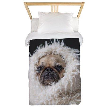 pug dog Twin Duvet Cover on CafePress.com