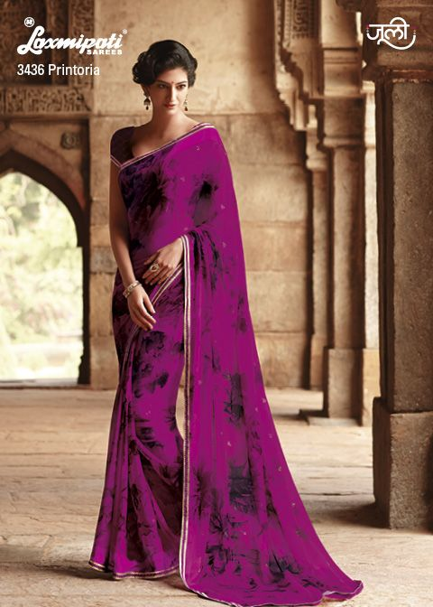 The adorable designer printed saree will bring tremendous charisma in your personality.  #Laxmipati #Sarees