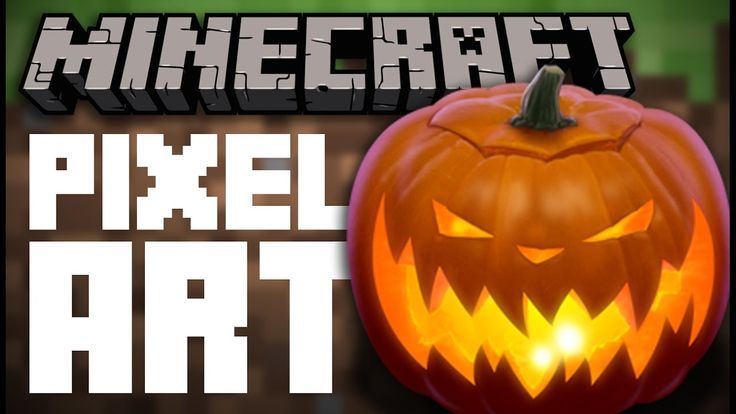 Happy Halloween! (Jack o' Lantern Minecraft Pixel Art)
