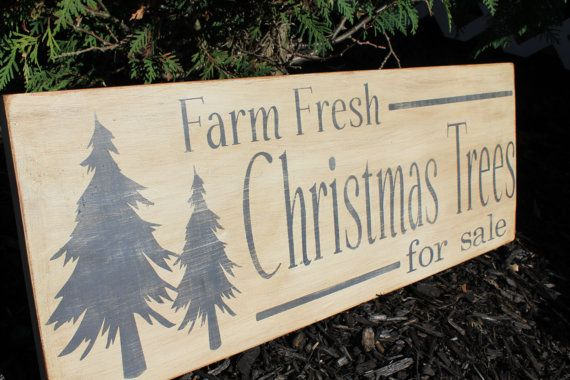 Christmas Sign. Christmas Trees for Sale by EmbellishedLiving