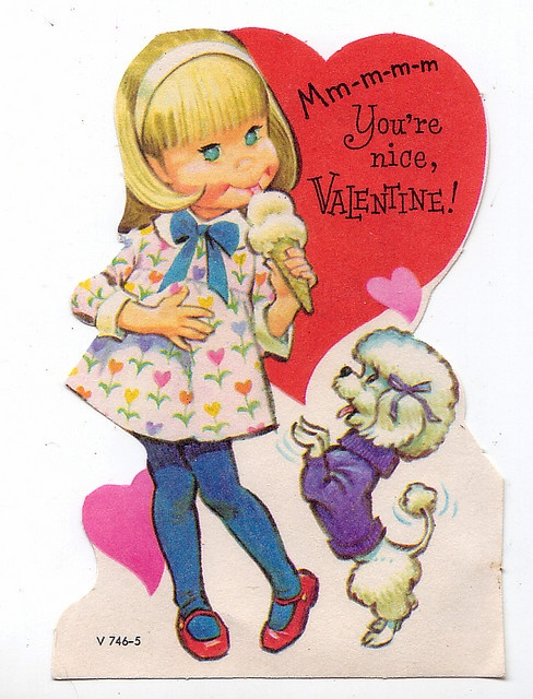 from the 70's I remember in elementary school getting a list to take home every year so everyone in my class would get a valentine.