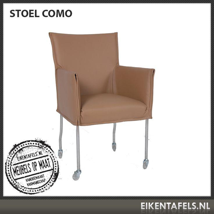 http://www.eikentafels.nl/product,Stoel+Como,385 , Stoel Como: Bent u op zoek naar een modern vormgegeven stoel voor aan uw eetkamertafel of vergadertafel? Onze stoel Como zit heerlijk en is eenvoudig te verplaatsen dankzij de vier zwenkwielen. De bekleding kan zowel in kunst leer, echt leder als stof worden uitgevoerd. Ook bij deze stoel hebben wij dé perfecte eiken tafel voor in uw eetkamer of vergaderruimte. Eikentafels.nl maakt immers uw tafel op maat, geheel volgens uw wensen!
