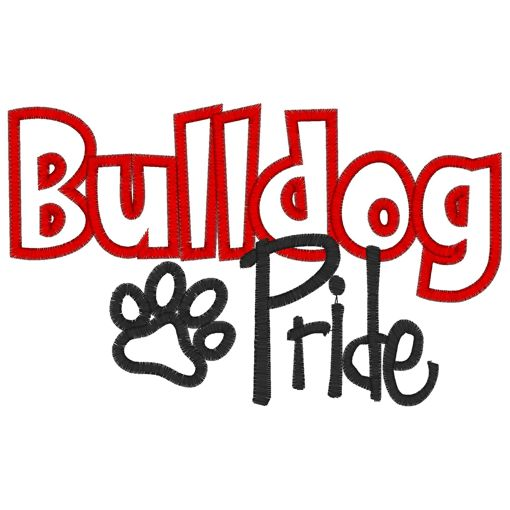 Sayings (3002) Bulldog pride applique 5x7