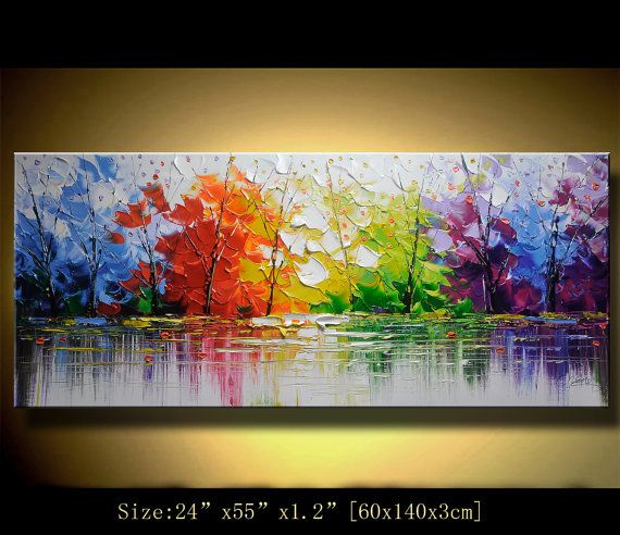 Original Abstract Painting, Modern Textured Painting,Impasto Landscape Textured Modern Palette Knife Painting,Painting on Canvas byChen n067  Size: