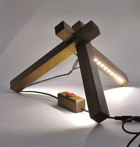 Madera escritorio Lámpara del LED luz lámpara madera estilo moderno decoración LED diseño lámpara iluminación soporte lámpara lámpara ajustable madera lámpara de lectura