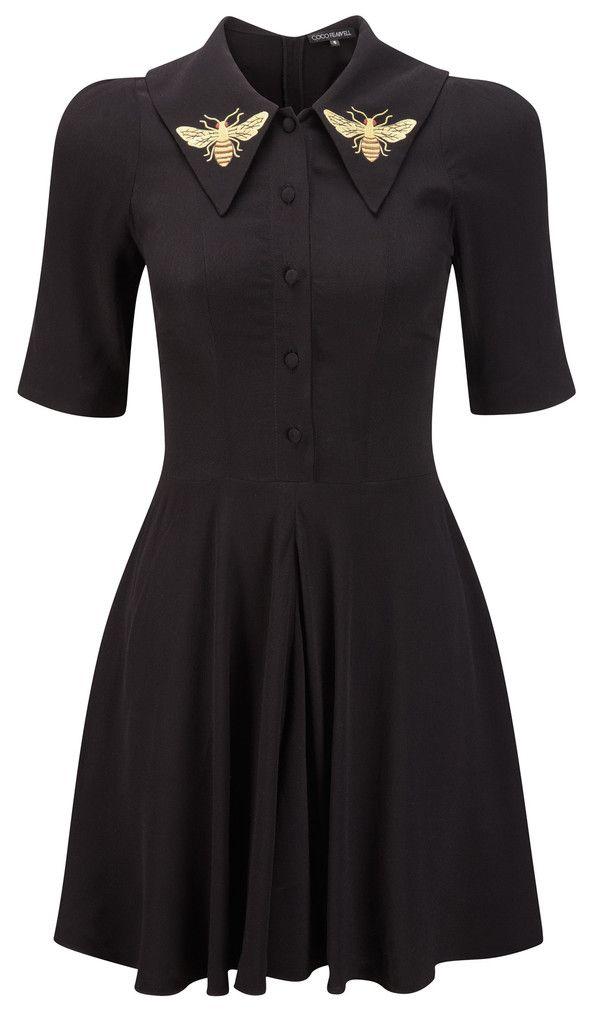 via cocofennell.com | black bee dress