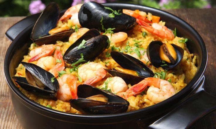 Grilovaná paella z mořských plodů « FoodMag