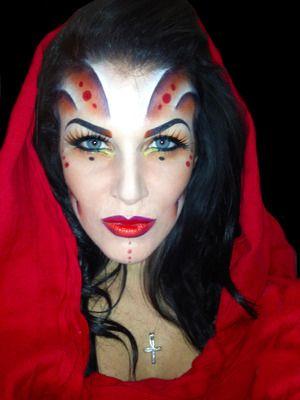 Fierce #Halloween #makeup!