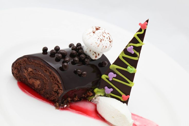 Disney Cruise Line double chocolate yule log #recipe