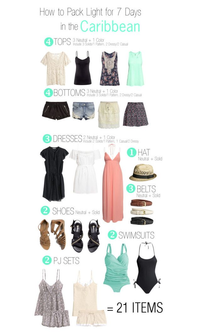 2f050d28079 How to Pack Light for 7 Days in the Caribbean by tlexrawr on Polyvore  featuring H M