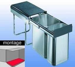 Afvalemmer - inbouw - afvalemmers - Inbouw afvalemmer - Afvalemmer met uittreksysteem