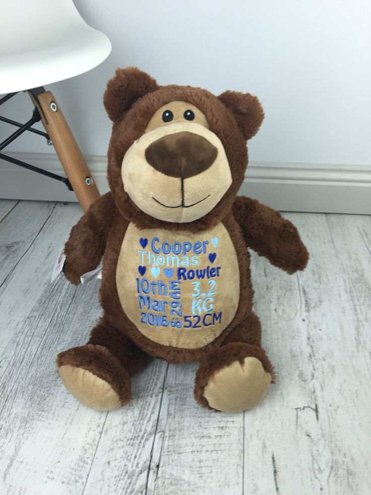 Good Morning happy Monday from me Cubbyford that's my name! :) I am a personalised teddy bear so excited to go to my new family. Available @ www.tedddielane.com.au