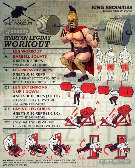 Тренировка Ног - Спартанский День Ноги